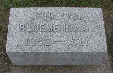 BLOEMENDAAL, JOHANNA - Sioux County, Iowa   JOHANNA BLOEMENDAAL