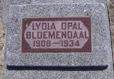 BLOEMENDAAL, LYDIA OPAL - Sioux County, Iowa | LYDIA OPAL BLOEMENDAAL