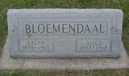 BLOEMENDAA, ALICE (MRS. RALPH) - Sioux County, Iowa | ALICE (MRS. RALPH) BLOEMENDAA