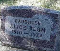 BLOM, ALICE - Sioux County, Iowa   ALICE BLOM