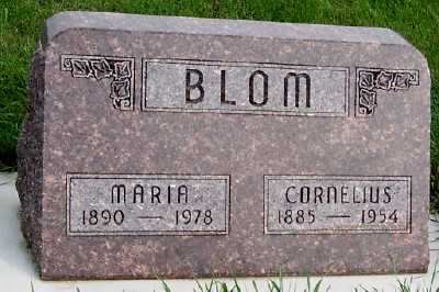 BLOM, MARIA - Sioux County, Iowa   MARIA BLOM