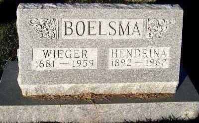 BOELSMA, HENDRINA - Sioux County, Iowa | HENDRINA BOELSMA