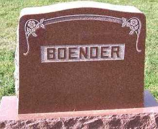 BOENDER, FAMILY HEADSTONE - Sioux County, Iowa | FAMILY HEADSTONE BOENDER