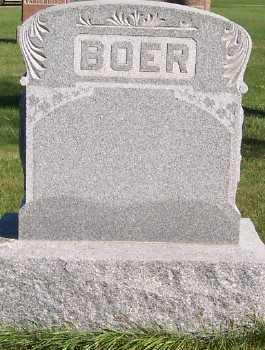 BOER, HEADSTONE - Sioux County, Iowa   HEADSTONE BOER