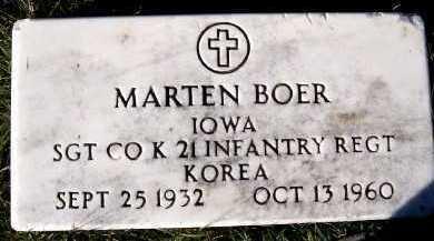 BOER, MARTIN - Sioux County, Iowa   MARTIN BOER