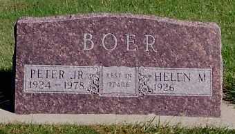BOER, PETER JR. - Sioux County, Iowa   PETER JR. BOER
