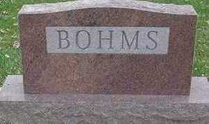 BOHMS, HEADSTONE - Sioux County, Iowa | HEADSTONE BOHMS