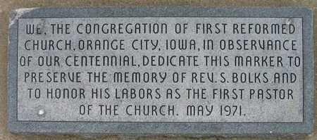 BOLKS, REV. S. - Sioux County, Iowa | REV. S. BOLKS