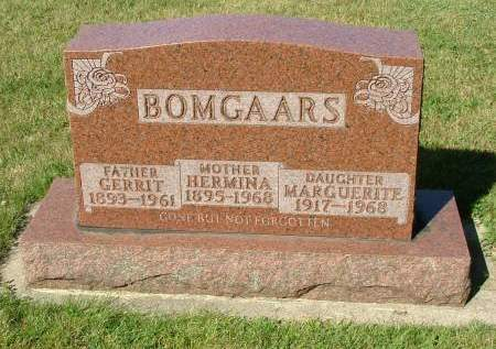 BOMGAARS, MARGUERITE - Sioux County, Iowa | MARGUERITE BOMGAARS