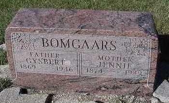 BOMGAARS, JENNIE - Sioux County, Iowa | JENNIE BOMGAARS