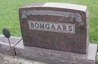 BOMGAARS, HEADSTONE - Sioux County, Iowa   HEADSTONE BOMGAARS