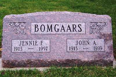 BOMGAARS, JENNIE F. - Sioux County, Iowa | JENNIE F. BOMGAARS