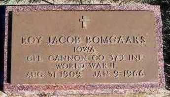 BOMGAARS, ROY JACOB - Sioux County, Iowa | ROY JACOB BOMGAARS