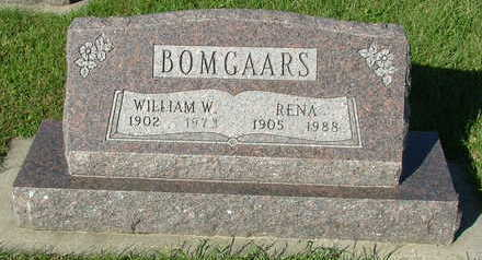 BOMGAARS, RENA (MRS. WILLIAM) - Sioux County, Iowa | RENA (MRS. WILLIAM) BOMGAARS