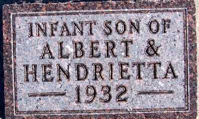 BONNEMA, INFANT SON (1932) - Sioux County, Iowa | INFANT SON (1932) BONNEMA