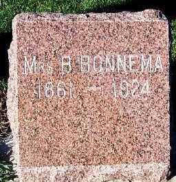 BONNEMA, MRS. B. - Sioux County, Iowa   MRS. B. BONNEMA