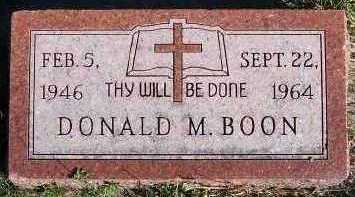 BOON, DONALD M. - Sioux County, Iowa | DONALD M. BOON