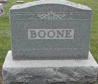 BOONE, HEADSTONE - Sioux County, Iowa | HEADSTONE BOONE
