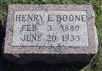 BOONE, HENRY E. - Sioux County, Iowa | HENRY E. BOONE
