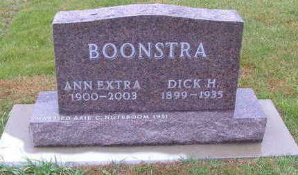 EXTRA BOONSTRA, ANN (MRS. DICK) - Sioux County, Iowa | ANN (MRS. DICK) EXTRA BOONSTRA