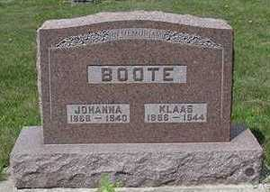BOOTE, KLAUS - Sioux County, Iowa | KLAUS BOOTE