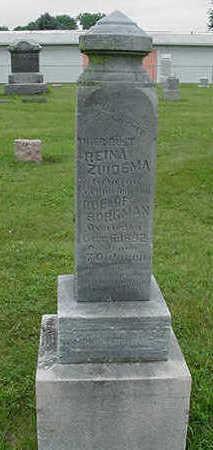 ZUIDEMA BORGMAN, REINA - Sioux County, Iowa | REINA ZUIDEMA BORGMAN