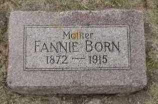 BORN, FANNIE - Sioux County, Iowa   FANNIE BORN