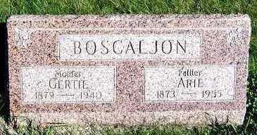 BOSCALJON, ARIE - Sioux County, Iowa   ARIE BOSCALJON