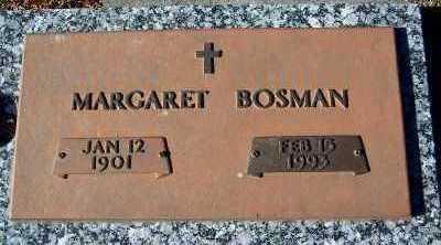 BOSMAN, MARGARET - Sioux County, Iowa   MARGARET BOSMAN