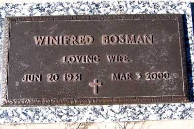 BOSMAN, WINIFRED - Sioux County, Iowa | WINIFRED BOSMAN