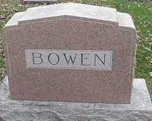BOWEN, HEADSTONE - Sioux County, Iowa   HEADSTONE BOWEN