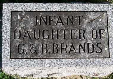 BRANDS, INFANT DAUGHTER OF G. & B. - Sioux County, Iowa | INFANT DAUGHTER OF G. & B. BRANDS