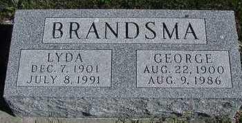 BRANDSMA, GEORGE  D.1986 - Sioux County, Iowa | GEORGE  D.1986 BRANDSMA