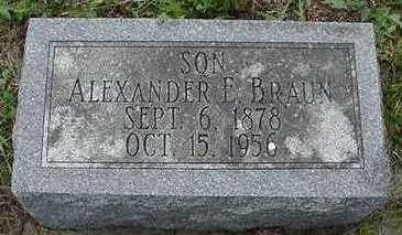 BRAUN, ALEXANDER E. - Sioux County, Iowa | ALEXANDER E. BRAUN