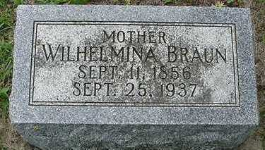 BRAUN, WILHELMINA - Sioux County, Iowa | WILHELMINA BRAUN