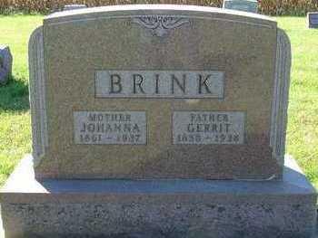 BRINK, JOHANNA (MRS. GERRIT) - Sioux County, Iowa | JOHANNA (MRS. GERRIT) BRINK