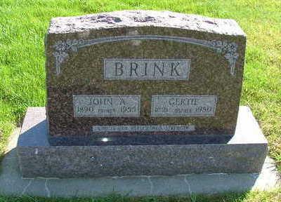 BRINK, GERTIE (MRS. JOHN A.) - Sioux County, Iowa | GERTIE (MRS. JOHN A.) BRINK