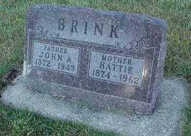 BRINK, HATTIE (MRS. JOHN A. ) - Sioux County, Iowa | HATTIE (MRS. JOHN A. ) BRINK