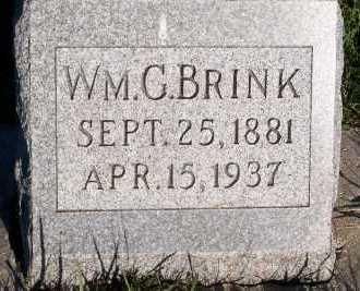 BRINK, WM. G. - Sioux County, Iowa   WM. G. BRINK