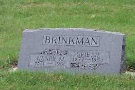 BRINKMAN, GRIETJE - Sioux County, Iowa | GRIETJE BRINKMAN