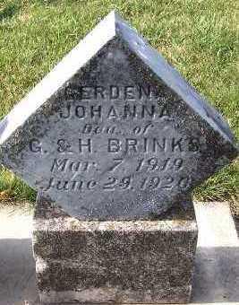 BRINKS, GERDENA JOHANNA - Sioux County, Iowa   GERDENA JOHANNA BRINKS