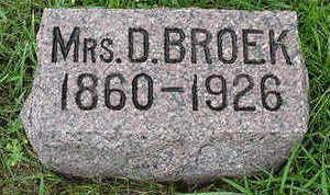 BROEK, D. MRS. - Sioux County, Iowa | D. MRS. BROEK