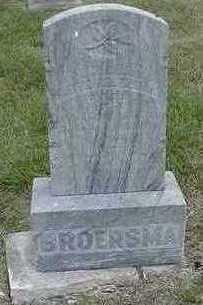 BROERSMA, PETER - Sioux County, Iowa   PETER BROERSMA