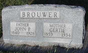 BROUWER, GERTIE (MRS. JOHN P.) - Sioux County, Iowa | GERTIE (MRS. JOHN P.) BROUWER