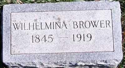 BROWER, WILHELMINA - Sioux County, Iowa | WILHELMINA BROWER