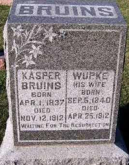 BRUINS, WUPKE (MRS. KASPER) - Sioux County, Iowa | WUPKE (MRS. KASPER) BRUINS