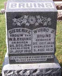 BRUINS, DIEDERIKE (MRS. W.B.) - Sioux County, Iowa | DIEDERIKE (MRS. W.B.) BRUINS