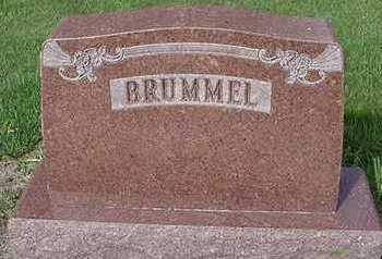 BRUMMEL, HEADSTONE - Sioux County, Iowa   HEADSTONE BRUMMEL