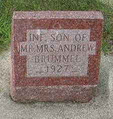 BRUMMEL, INFANT SON OF ANDREW - Sioux County, Iowa | INFANT SON OF ANDREW BRUMMEL
