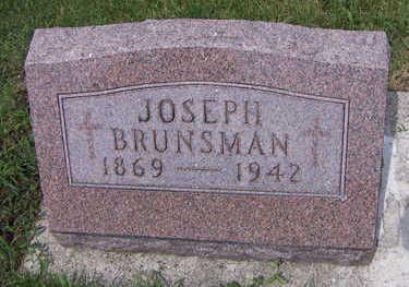 BRUNSMAN, JOSEPH - Sioux County, Iowa   JOSEPH BRUNSMAN